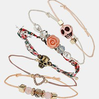Topshop &#x27;Pretty Pink&#x27; Bracelets (Set of 5) | Nordstrom