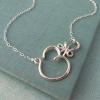 Crown Chakra Necklace in sterling silver