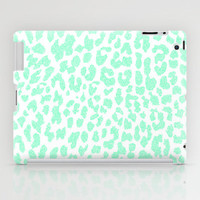 Mint Leopard iPad Case by M Studio - iPad 2nd, 3rd, 4th Gen, and iPad Mini