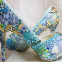 Tropical Island wedding shoes   digital by everlastinglifashion