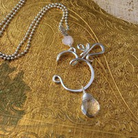 OM Necklace with Quartz