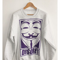 NotGuilty Magazine & Garmshouse — DISOBEY - V for Vendetta/Anonymous Crew Grey