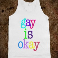 gay is okay - Happy Friday - Skreened T-shirts, Organic Shirts, Hoodies, Kids Tees, Baby One-Pieces and Tote Bags