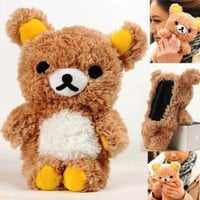 Authentic Plush Toy Case for iPhone 4 iTouch 4 iPhone 5 itouch 5 iPad Mini Samsung Galaxy i9300 i9100 HTC OneX + A Special Washing Bag as Gift (iPhone 5, Brown Bear)