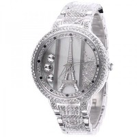 Luxury Diamond-studded Iron Tower Ladies Watch
