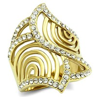 Ion Gold Plated Crystal Ring - 06574
