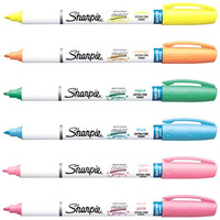 Sharpie Paint Marker Pens Water Based EX FINE Point 6 Glitter Colors Kit