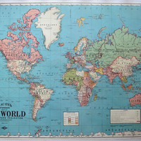 DIY Travel Map Kit  World Map No 4 by EcoMonster on Etsy