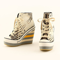 Zebra Wedge Sneaker