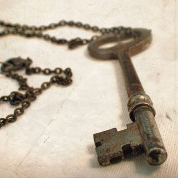 Vintage Key Necklace Secret Garden Antique by missquitecontrary