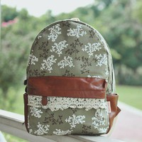 Institute of simple but elegant floral, women's backpack from flowerbird