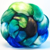 Superwash Merino Lambswool Combed Top Hand Painted Wool Roving For Spinning - 4.1 Oz - HIATUS | Luulla