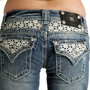 Miss Me Flowers and Pearls jean shorts: Clothing