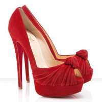 Christian Louboutin Jenny Pumps 150mm Red For Ladies