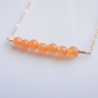 Orange Jade Necklace