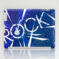 Rock [Blue] iPad Case by Ornaart