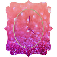 DENY Designs Home Accessories | Lisa Argyropoulos Berrylicious Quatrefoil Clock