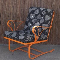 Orange Vintage Bouncer Chair in Vintage Furniture
