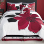 8 Pieces MARISOL Red Black White Comforter Bed-in-a-bag Set Queen Size Bedding+Sheets