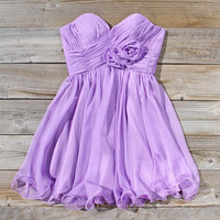 Lavender Bouquet Dress, Sweet Women's Party Dresses