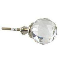 Glass Flare Knob - Gem Cut - Hobby Lobby