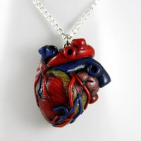 """How Much I Love You"" Anatomical Heart Necklace"