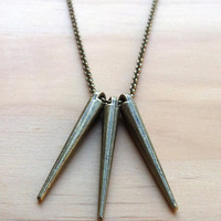 Triple Spike Necklace