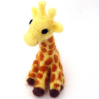 cute needle felted giraffe