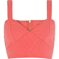 Coral textured bralet
