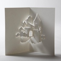 Castle in the Sky PopUp Card by jackiehuang on Etsy