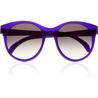 ILLESTEVA Mademoiselle round-frame acetate sunglasses