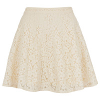 Cream Lace Skater Skirt - Full & Flippy Skirts - Skirts - Clothing - Topshop