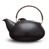 Provide - Collections - Kitchen &amp; Dining by Heath Ceramics - Tea pot large in Onyx