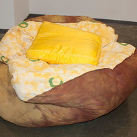 Baked Potato Bean Bag Chair w/ Butter Pillow by Bfiberandcraft