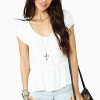 Spring Dreams Top  - Ivory