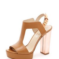 KORS Michael Kors  Vernon Platform Sandal, Peanut or Black - Michael Kors