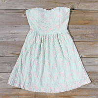 Lattice & Lace Dress, Sweet Women's Party Dresses