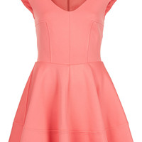 Ribbed V Front Skater Dress - Dresses - Clothing - Topshop