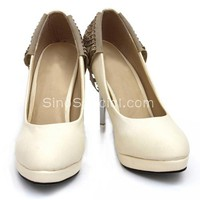New Style Beaded Platform Pumps-SinoSpecial.com