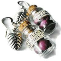 Nightlock berry earrings miniature bottles with by bottledwonders