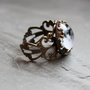 Full Moon Lacy Ring  Wanderlust Collection  by DittyDrops on Etsy