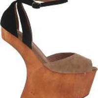 Jeffrey Campbell Str8up Platform Sandal Nude Suede 