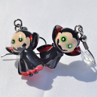 Vampire dangle charm earrings by MeredithsLittleShop on Etsy
