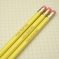MATURE pencils eff your face pencil set of by thecarboncrusader