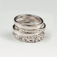 FULL TILT Hearts/Plain Ring Set 137042140 | rings | Tillys.com