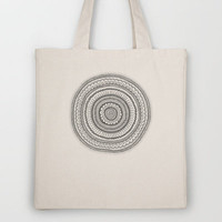 Carousel in B&W Tote Bag by Anita Ivancenko