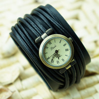 Multi-wraps Thin Belt Watch