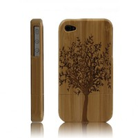 Handcarved Eco-friendly Bamboo iPhone 4 &amp; 4s Cases- A Big Tree