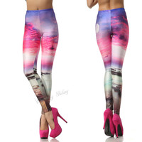 Sunglow Color Turning Printing Leggings Pants from Charming Galaxy