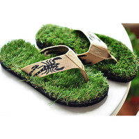 Handmade Cool Grass Slippers from FUNKISS